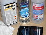 Woda destylowana, alkohol izopropylowy i ściereczka z mikrofibry